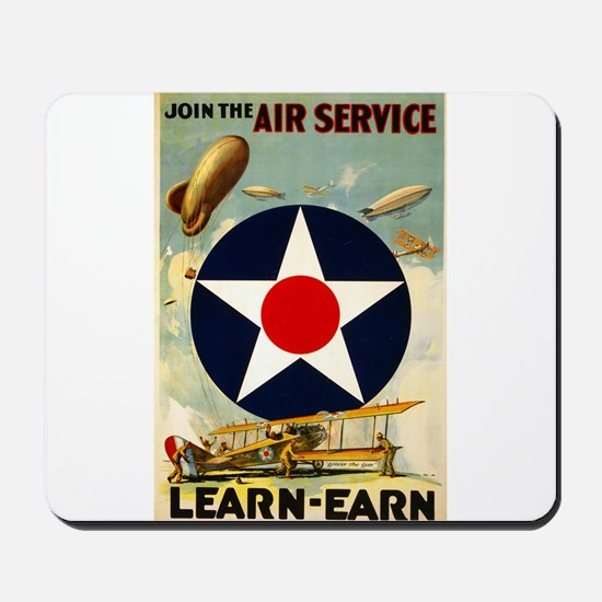 WWII Join the Air Service/Air Force Mousepad