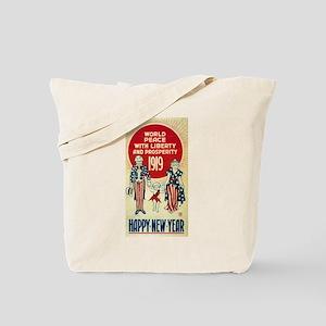 Vintage Happy New Year Tote Bag