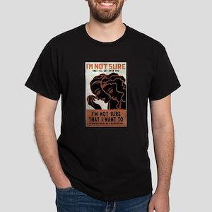 Vintage Deco Poster Dark T-Shirt