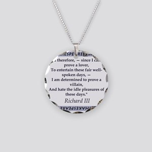 Since I Cannot Prove a Lover Necklace