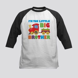 Little Big Bro Train Kids Baseball Jersey