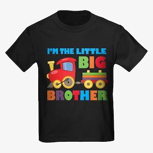 Little Big Bro Train Kids Dark T-Shirt