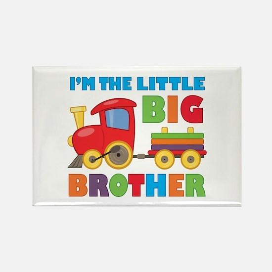 Little Big Bro Train Rectangle Magnet