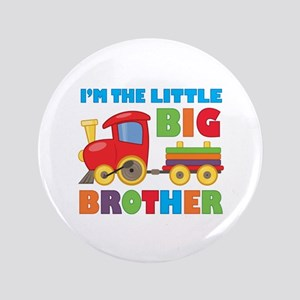 "Little Big Bro Train 3.5"" Button"