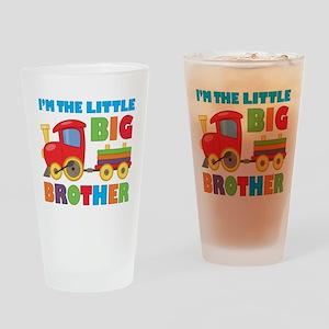 Little Big Bro Train Drinking Glass