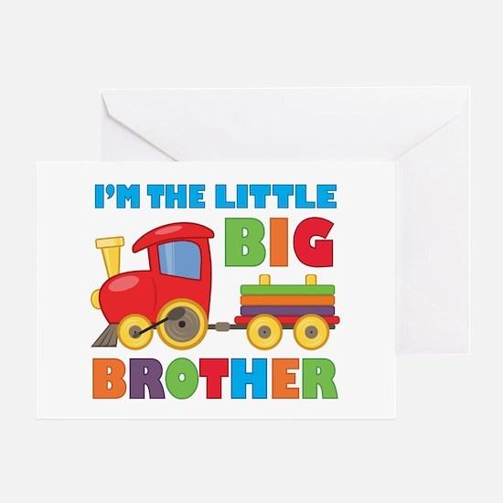 Little Big Bro Train Greeting Card