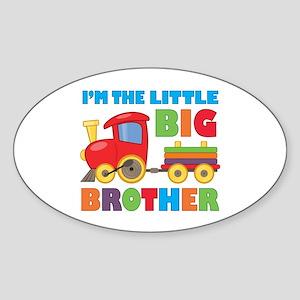 Little Big Bro Train Sticker (Oval)
