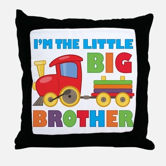 Little Big Bro Train Throw Pillow