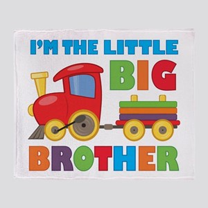 Little Big Bro Train Throw Blanket