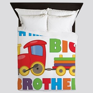 Little Big Bro Train Queen Duvet