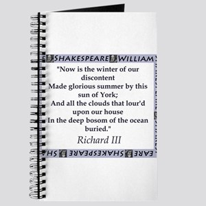 Now Is The Winter of Our Discontent Journal