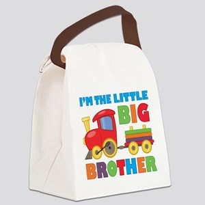 Little Big Bro Train Canvas Lunch Bag
