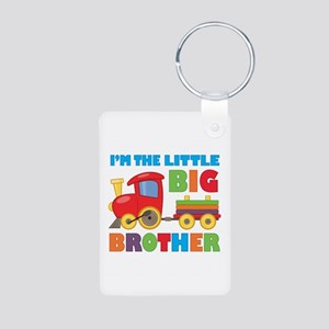 Little Big Bro Train Aluminum Photo Keychain