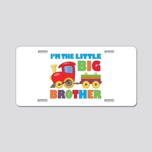 Little Big Bro Train Aluminum License Plate