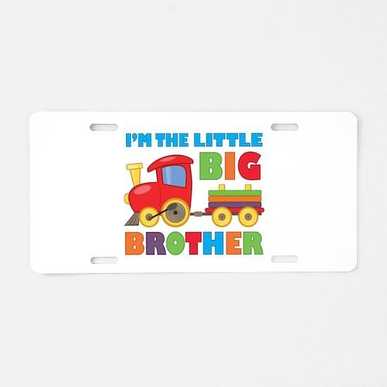 Little Big Bro Train Aluminum License Plate