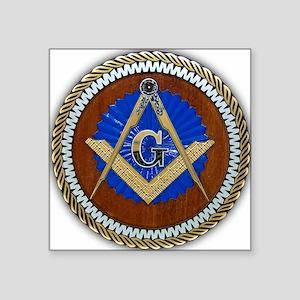 "Freemasonry Square Sticker 3"" x 3"""