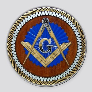 Freemasonry Round Car Magnet