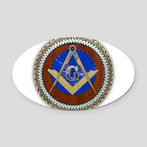 Freemasonry Oval Car Magnet