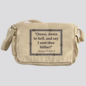 Down, Down to Hell Messenger Bag
