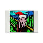 Christmas Stress Rectangle Magnet
