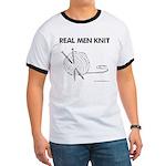 Real Men Knit Ringer T