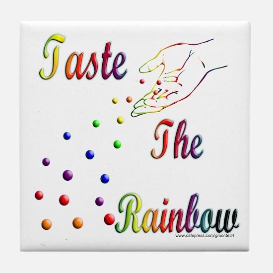 Taste The Rainbow Tile Coaster