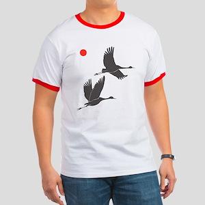 Crane Silhouette - Ringer Shirt