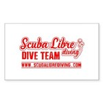 scuba libre diving logo Sticker (Rectangle 50 pk)