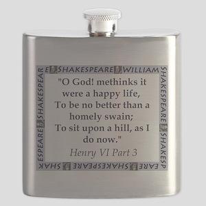 Methinks It Were A Happy Life Flask