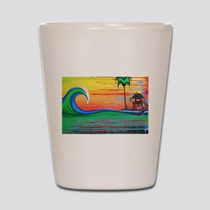Drippy Island Shot Glass