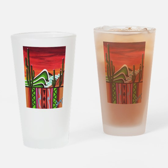 Cactus Point Drinking Glass