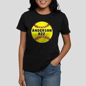 Personalized Softball Women's Dark T-Shirt