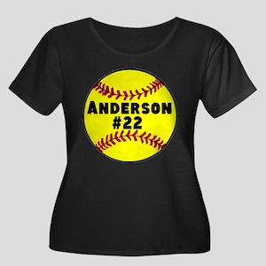 Personalized Softball Women's Plus Size Scoop Neck