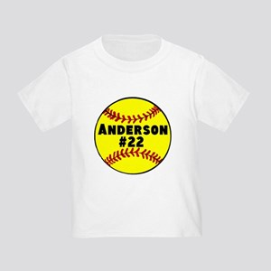 Personalized Softball Toddler T-Shirt