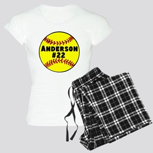 Personalized Softball Women's Light Pajamas