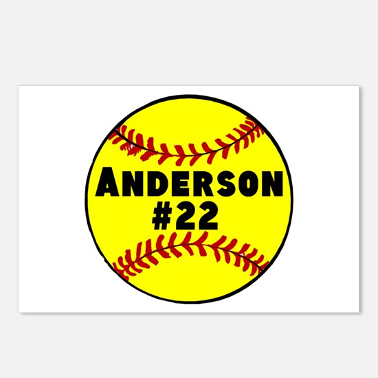 Personalized Softball Postcards (Package of 8)