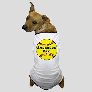 Personalized Softball Dog T-Shirt