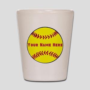 Personalized Softball Shot Glass