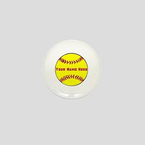 Personalized Softball Mini Button