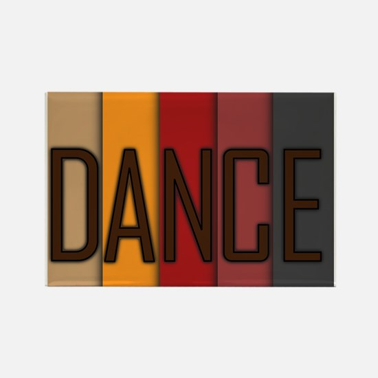 Dance Overlap Rectangle Magnet