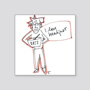 """Most Important Meal Square Sticker 3"""" x 3"""""""