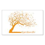 Automne Leaves Orange Sticker (Rectangle 50 pk)
