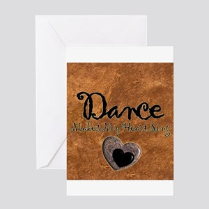 Dance Makes My Heart Sing Greeting Card