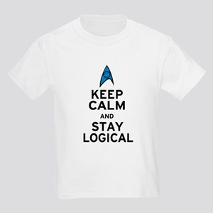 Keep Calm and Stay Logical Kids Light T-Shirt