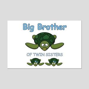 Big Bro Twin Turtle Mini Poster Print
