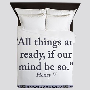 All Things Are Ready Queen Duvet