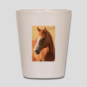 horse portrait Shot Glass