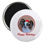 Pappy Holidays (sable santa hat) Magnet