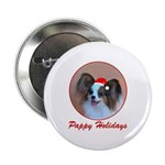 Pappy Holidays (sable santa hat) Button