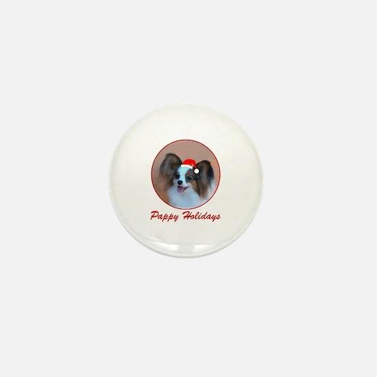 Pappy Holidays (sable santa hat) Mini Button